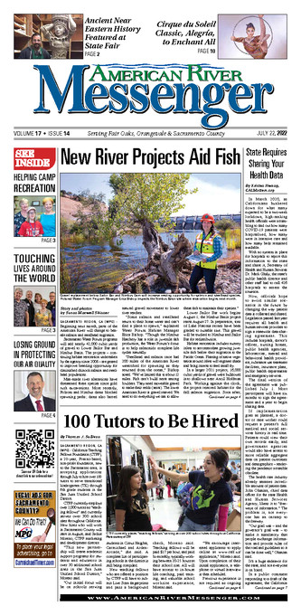 American River Messenger Front Page